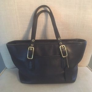 Coach Leather Handbag & Purse